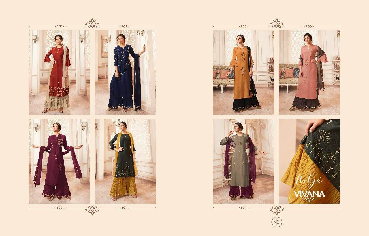Lt Fabrics Nitya Vivana Kurti with Dupatta Bottom Wholesale Catalog 7 Pcs 13 - Lt Fabrics Nitya Vivana Kurti with Dupatta Bottom Wholesale Catalog 7 Pcs