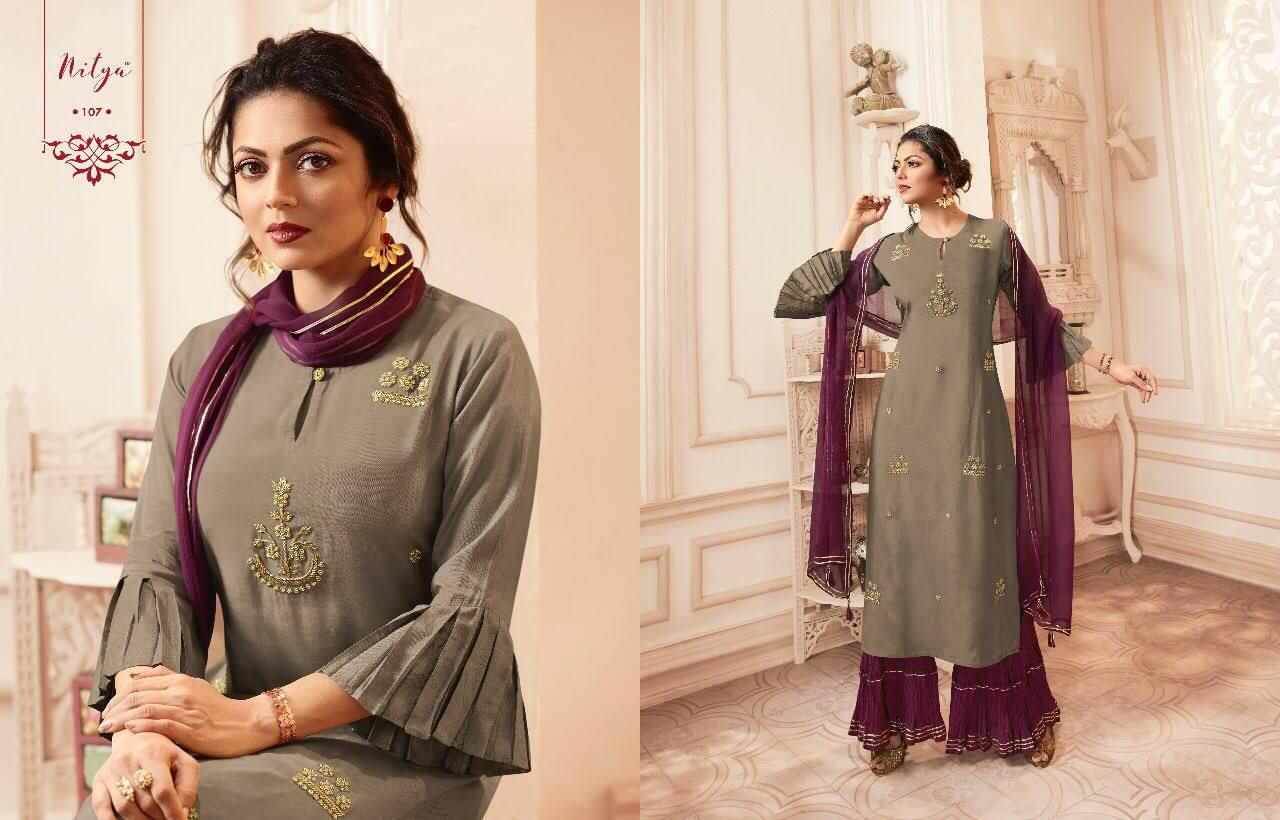 Lt Fabrics Nitya Vivana Kurti with Dupatta Bottom Wholesale Catalog 7 Pcs 4 - Lt Fabrics Nitya Vivana Kurti with Dupatta Bottom Wholesale Catalog 7 Pcs
