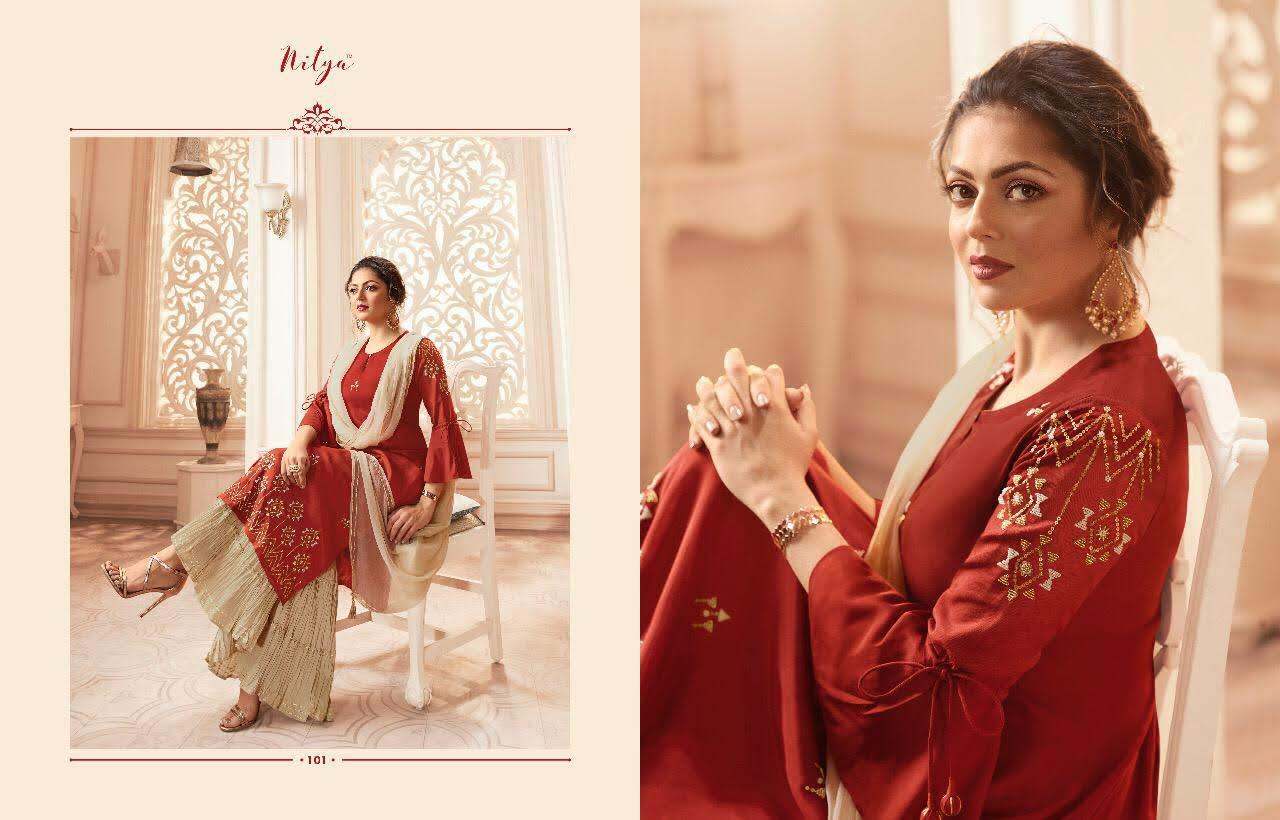 Lt Fabrics Nitya Vivana Kurti with Dupatta Bottom Wholesale Catalog 7 Pcs 5 - Lt Fabrics Nitya Vivana Kurti with Dupatta Bottom Wholesale Catalog 7 Pcs