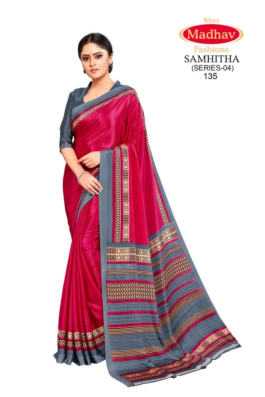 Madhav Fashion Samhitha Vol 4 Saree Sari Wholesale Catalog 9 Pcs 4 - Madhav Fashion Samhitha Vol 4 Saree Sari Wholesale Catalog 9 Pcs