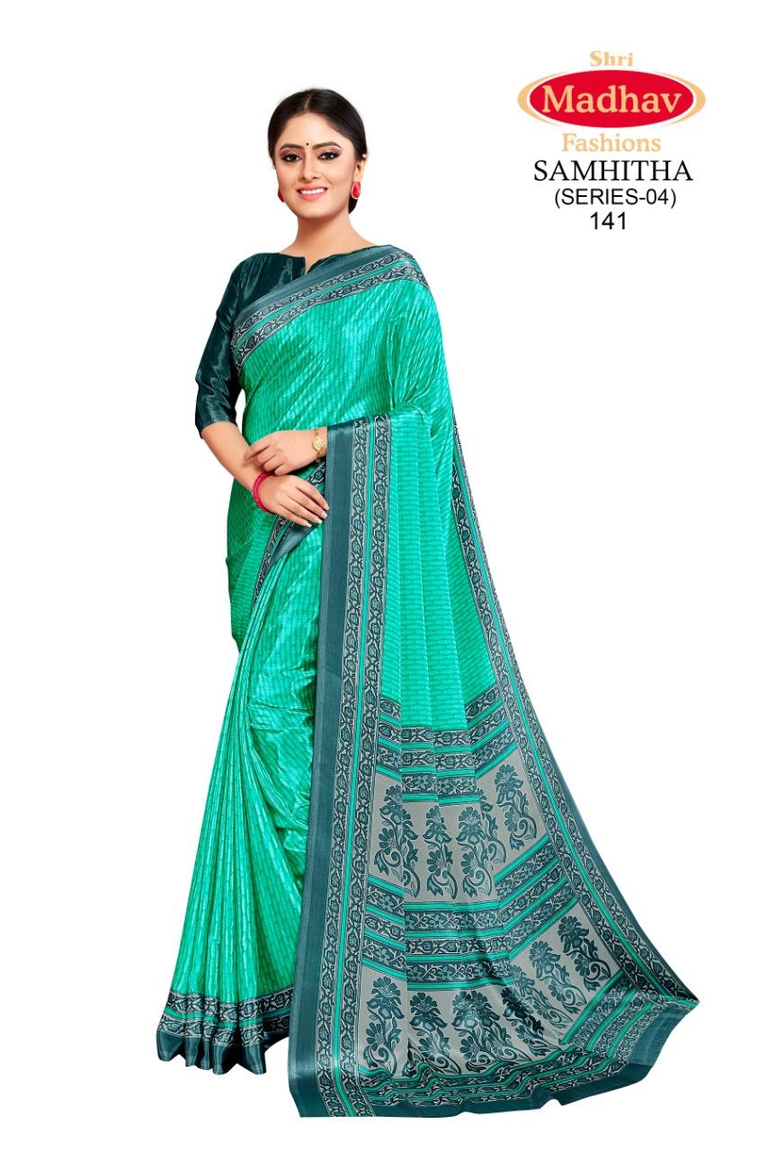 Madhav Fashion Samhitha Vol 4 Saree Sari Wholesale Catalog 9 Pcs 5 - Madhav Fashion Samhitha Vol 4 Saree Sari Wholesale Catalog 9 Pcs