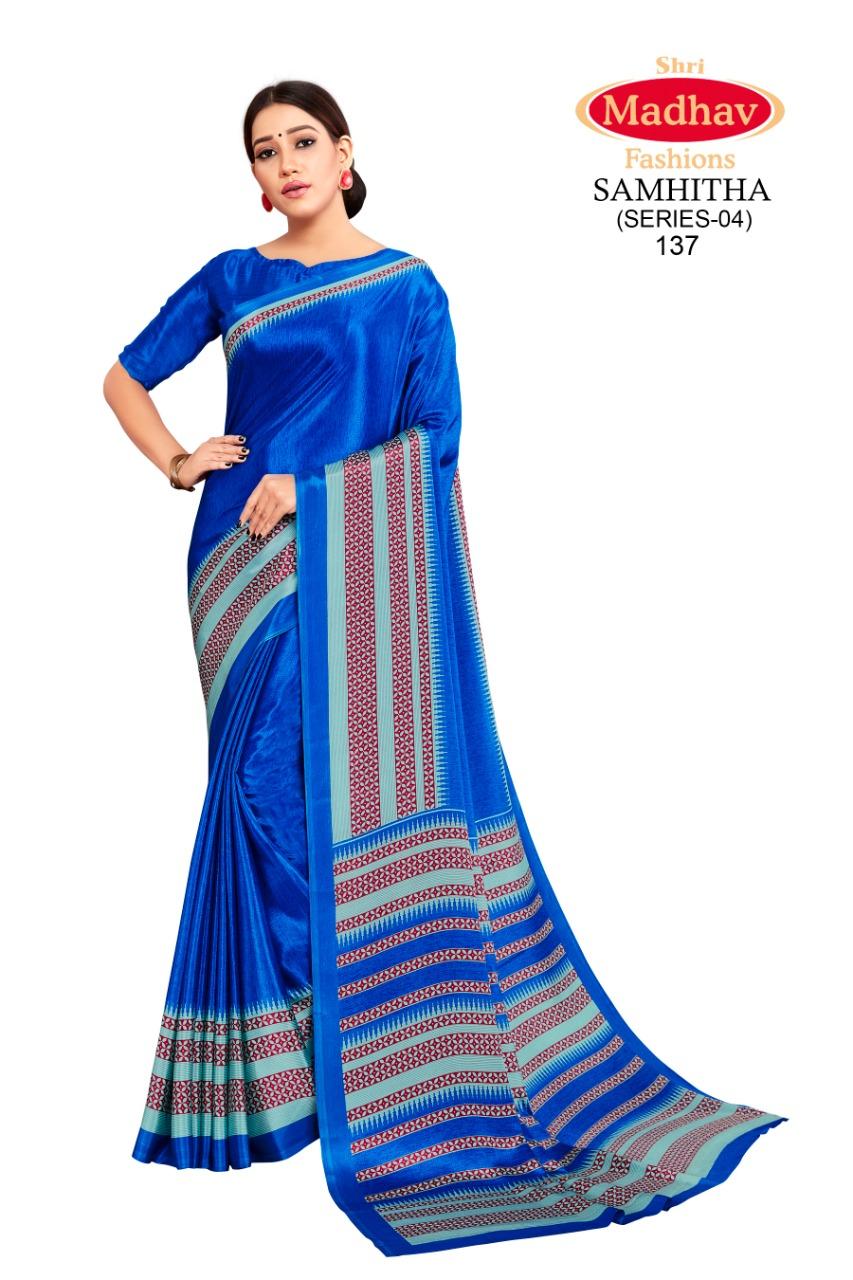 Madhav Fashion Samhitha Vol 4 Saree Sari Wholesale Catalog 9 Pcs 9 - Madhav Fashion Samhitha Vol 4 Saree Sari Wholesale Catalog 9 Pcs
