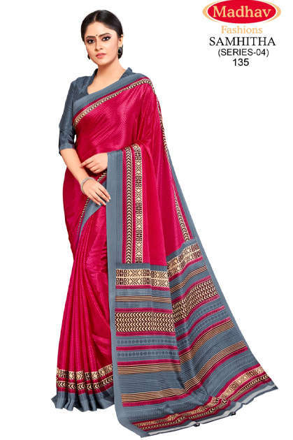 Madhav Fashion Samhitha Vol 4 Saree Sari Wholesale Catalog 9 Pcs - Madhav Fashion Samhitha Vol 4 Saree Sari Wholesale Catalog 9 Pcs