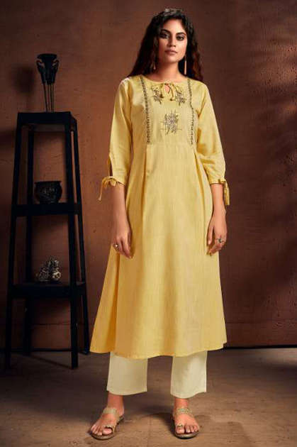 Manya Cristal Kurti with Pant Wholesale Catalog 6 Pcs - Aradhna Simonaa Vol 1 Kurti Wholesale Catalog 8 Pcs