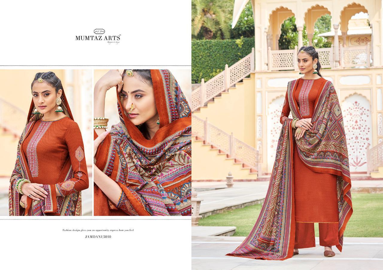 Mumtaz Arts Jamdani Pashmina Salwar Suit Wholesale Catalog 10 Pcs 15 - Mumtaz Arts Jamdani Pashmina Salwar Suit Wholesale Catalog 10 Pcs