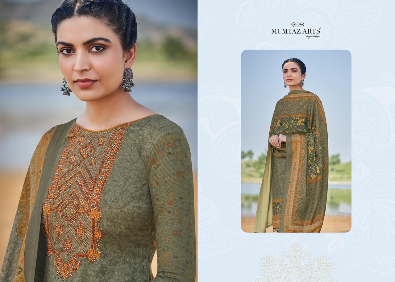 Mumtaz Arts Malhar Pashmina Salwar Suit Wholesale Catalog 8 Pcs 13 - Mumtaz Arts Malhar Pashmina Salwar Suit Wholesale Catalog 8 Pcs