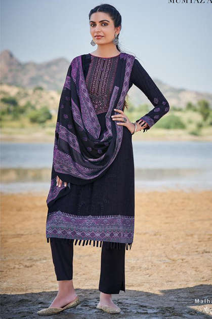 Mumtaz Arts Malhar Pashmina Salwar Suit Wholesale Catalog 8 Pcs