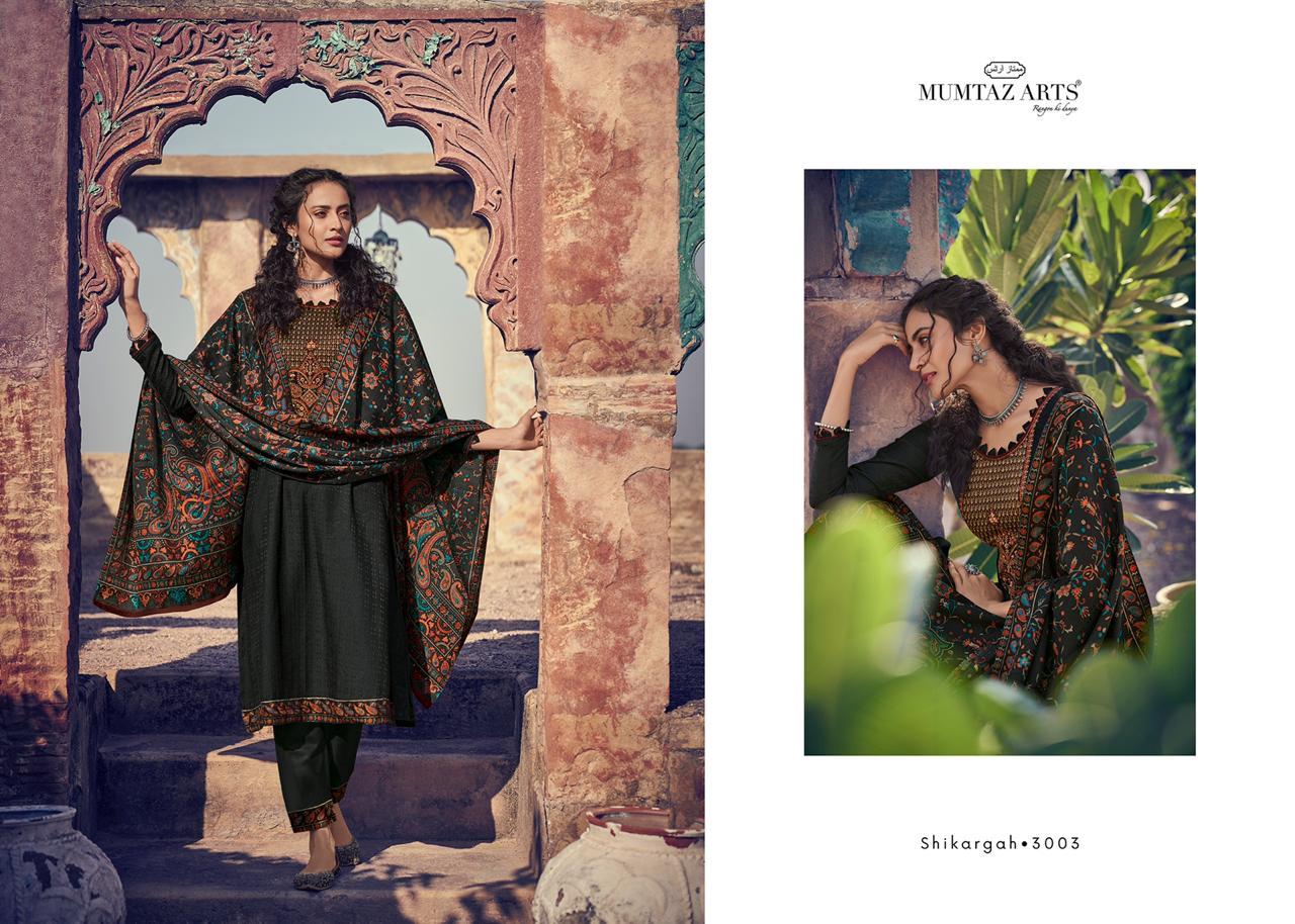 Mumtaz Arts Shikargah Pashmina Salwar Suit Wholesale Catalog 5 Pcs 12 - Mumtaz Arts Shikargah Pashmina Salwar Suit Wholesale Catalog 5 Pcs
