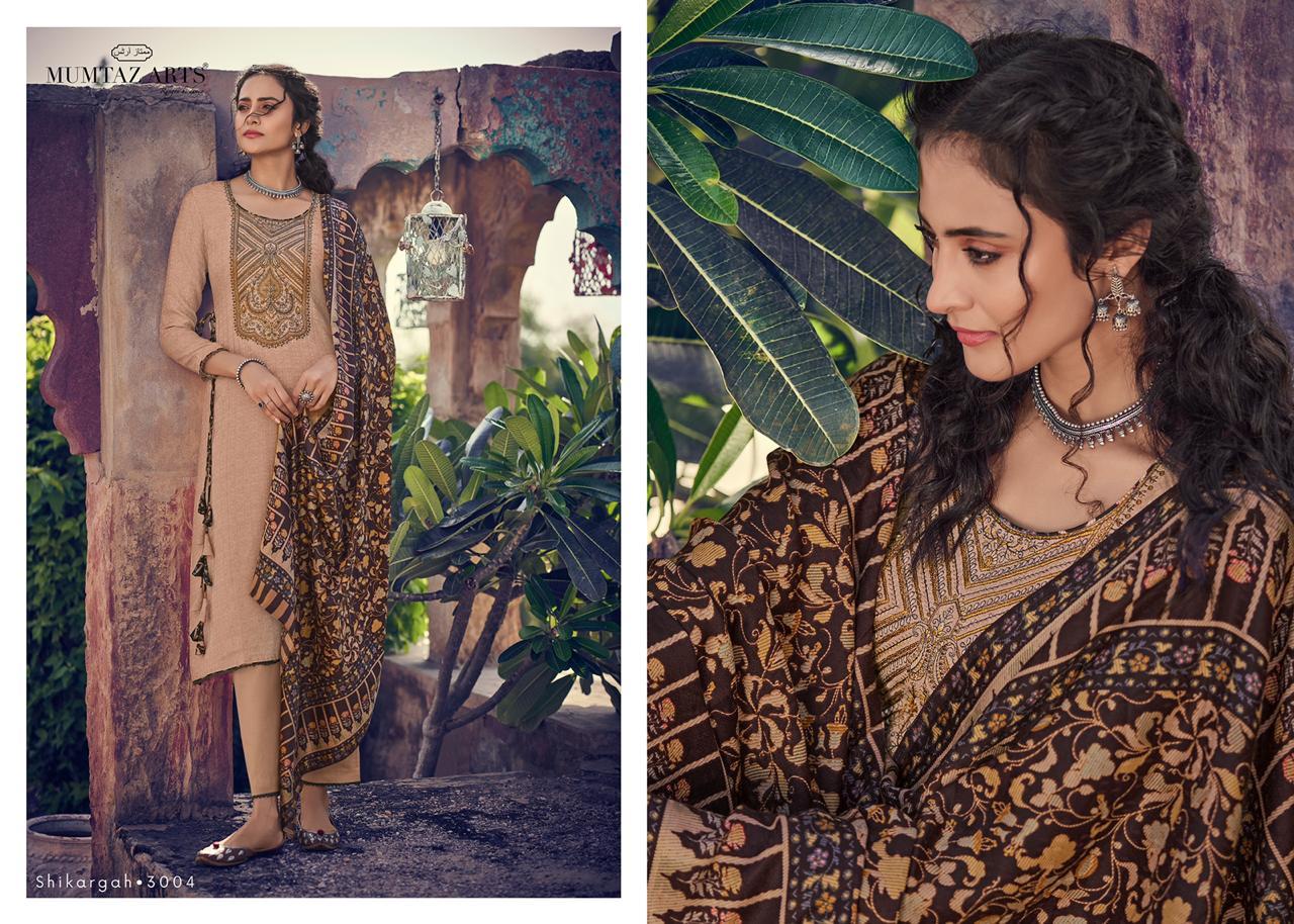 Mumtaz Arts Shikargah Pashmina Salwar Suit Wholesale Catalog 5 Pcs 14 - Mumtaz Arts Shikargah Pashmina Salwar Suit Wholesale Catalog 5 Pcs