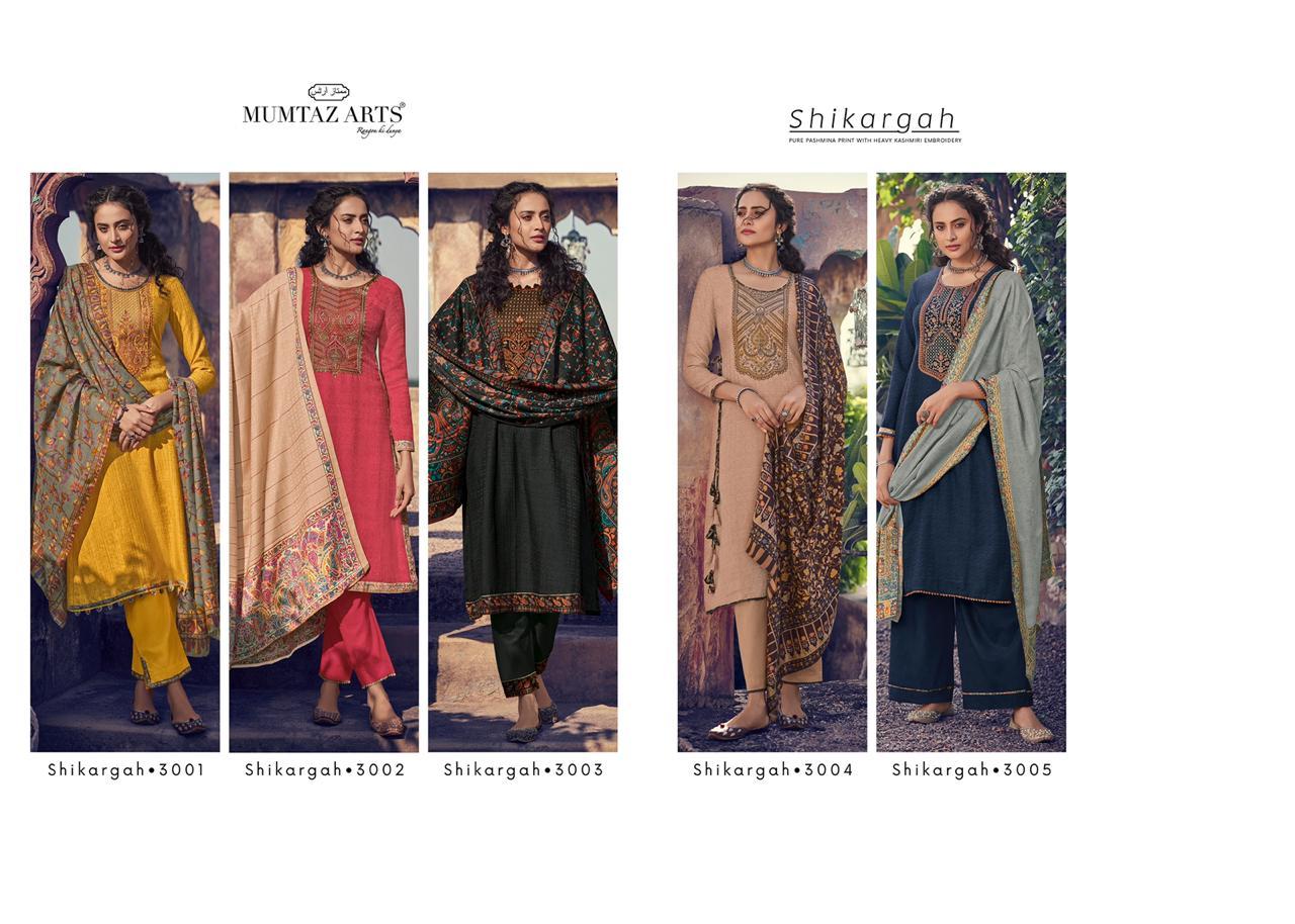 Mumtaz Arts Shikargah Pashmina Salwar Suit Wholesale Catalog 5 Pcs 15 - Mumtaz Arts Shikargah Pashmina Salwar Suit Wholesale Catalog 5 Pcs