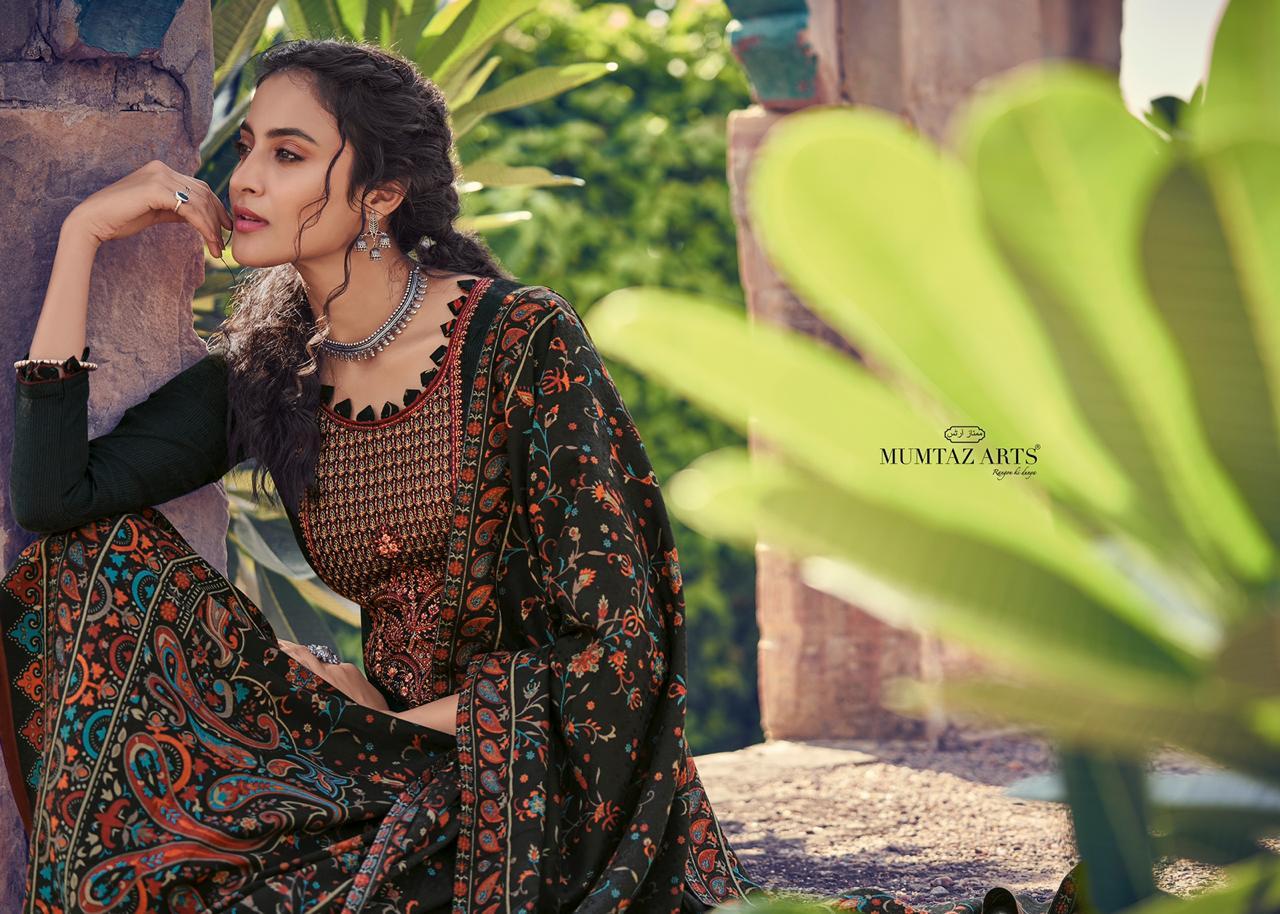 Mumtaz Arts Shikargah Pashmina Salwar Suit Wholesale Catalog 5 Pcs 4 - Mumtaz Arts Shikargah Pashmina Salwar Suit Wholesale Catalog 5 Pcs