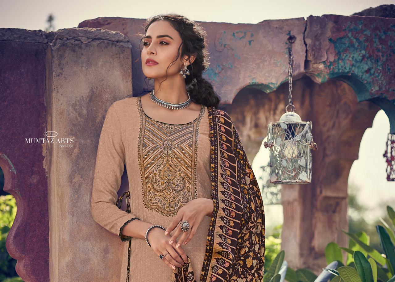 Mumtaz Arts Shikargah Pashmina Salwar Suit Wholesale Catalog 5 Pcs 5 - Mumtaz Arts Shikargah Pashmina Salwar Suit Wholesale Catalog 5 Pcs