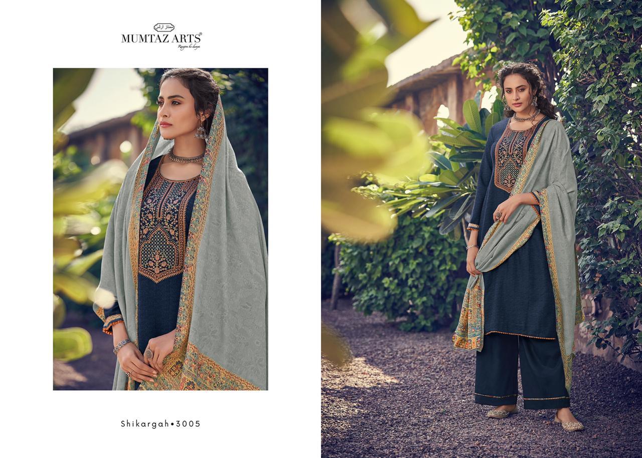 Mumtaz Arts Shikargah Pashmina Salwar Suit Wholesale Catalog 5 Pcs 6 - Mumtaz Arts Shikargah Pashmina Salwar Suit Wholesale Catalog 5 Pcs