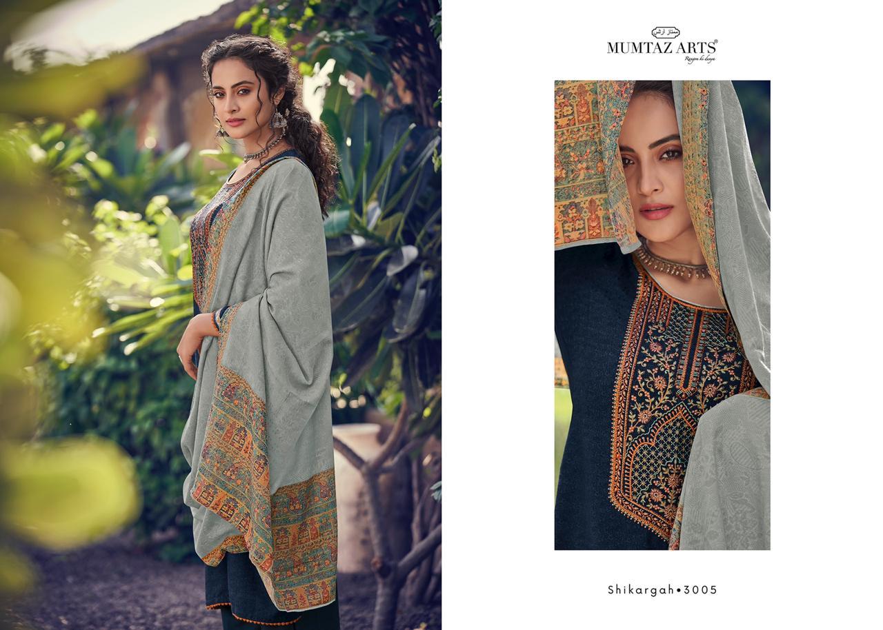 Mumtaz Arts Shikargah Pashmina Salwar Suit Wholesale Catalog 5 Pcs 7 - Mumtaz Arts Shikargah Pashmina Salwar Suit Wholesale Catalog 5 Pcs