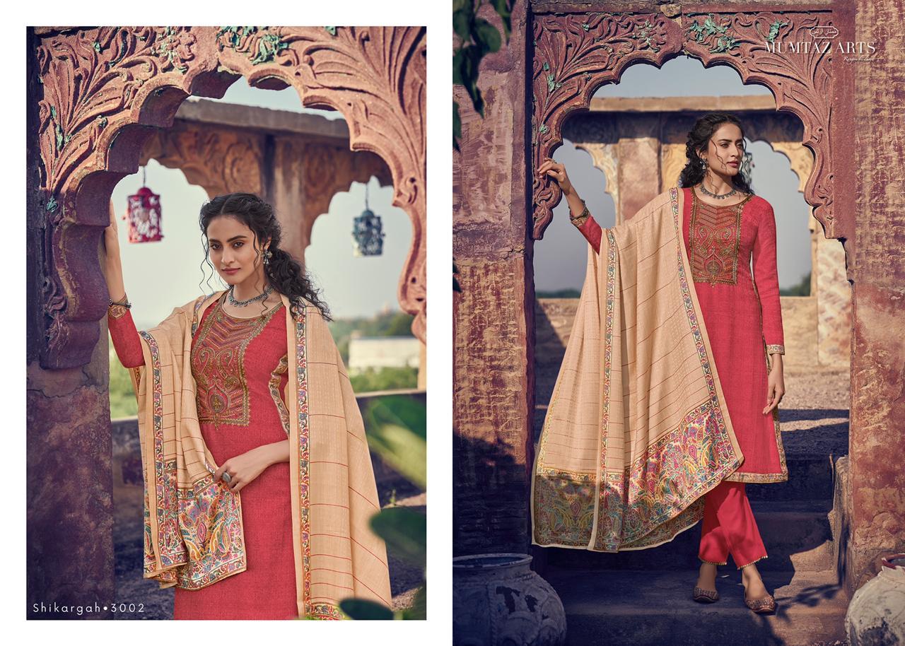 Mumtaz Arts Shikargah Pashmina Salwar Suit Wholesale Catalog 5 Pcs 8 - Mumtaz Arts Shikargah Pashmina Salwar Suit Wholesale Catalog 5 Pcs