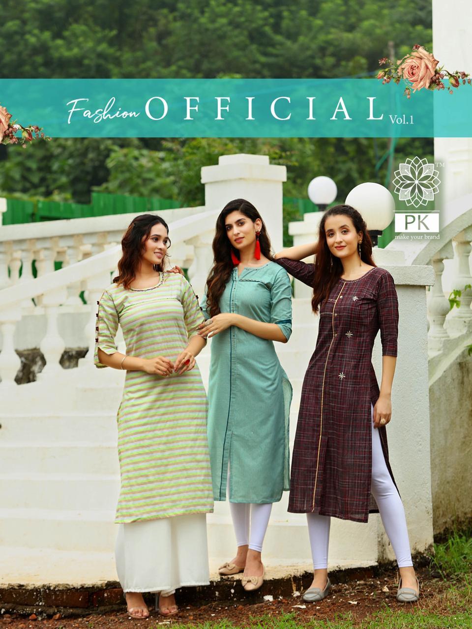 Pk Fashion Official Vol 1 Kurti Wholesale Catalog 9 Pcs 1 - Pk Fashion Official Vol 1 Kurti Wholesale Catalog 9 Pcs