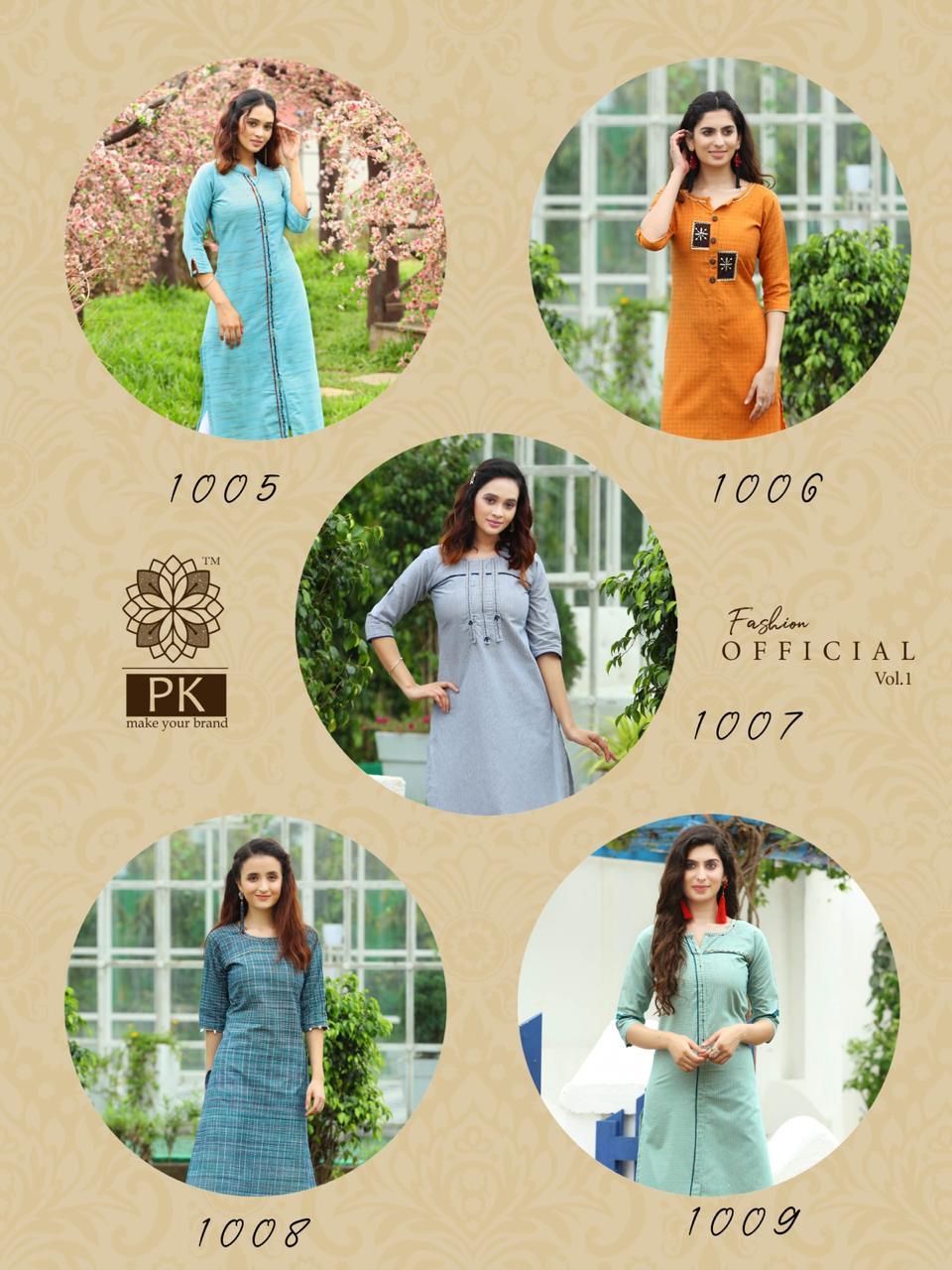 Pk Fashion Official Vol 1 Kurti Wholesale Catalog 9 Pcs 12 - Pk Fashion Official Vol 1 Kurti Wholesale Catalog 9 Pcs