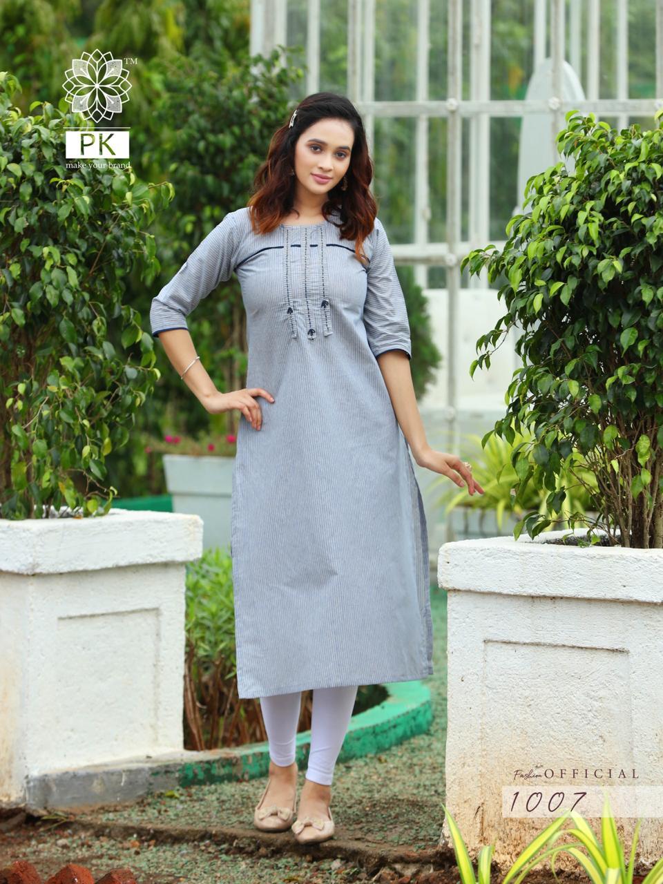 Pk Fashion Official Vol 1 Kurti Wholesale Catalog 9 Pcs 9 - Pk Fashion Official Vol 1 Kurti Wholesale Catalog 9 Pcs