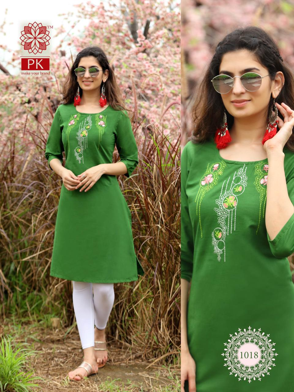 Pk Fashion Rainbow Vol 2 Kurti Wholesale Catalog 20 Pcs