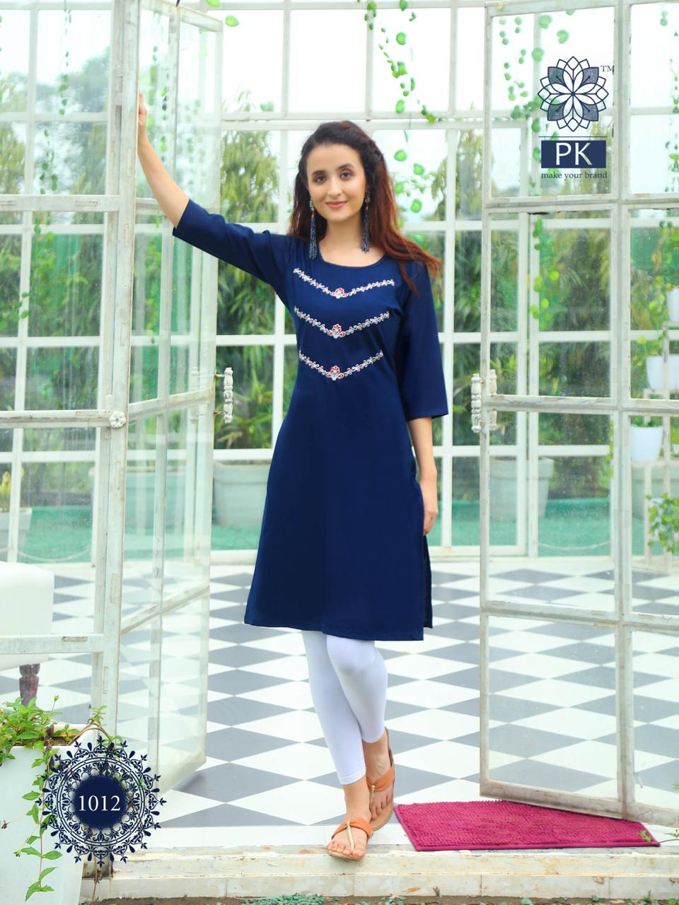Pk Fashion Rainbow Vol 2 Kurti Wholesale Catalog 20 Pcs 15 - Pk Fashion Rainbow Vol 2 Kurti Wholesale Catalog 20 Pcs