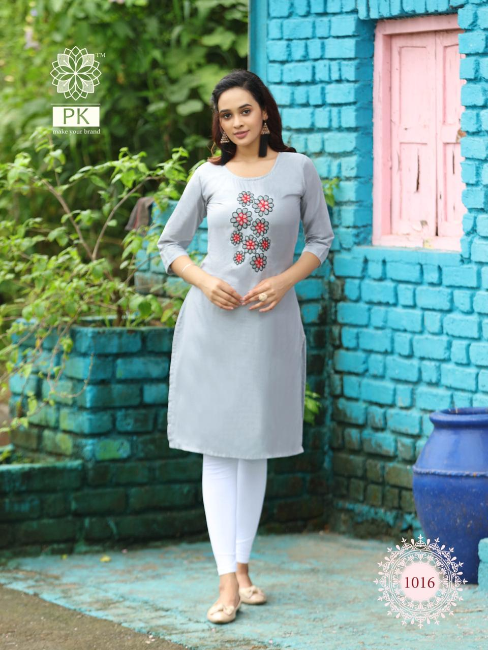 Pk Fashion Rainbow Vol 2 Kurti Wholesale Catalog 20 Pcs 16 - Pk Fashion Rainbow Vol 2 Kurti Wholesale Catalog 20 Pcs