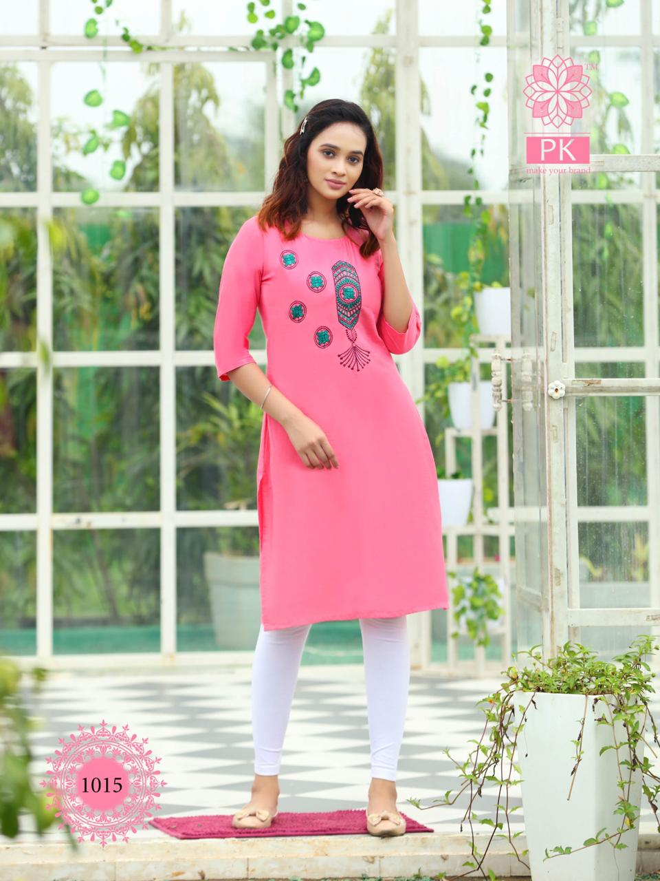 Pk Fashion Rainbow Vol 2 Kurti Wholesale Catalog 20 Pcs 17 - Pk Fashion Rainbow Vol 2 Kurti Wholesale Catalog 20 Pcs
