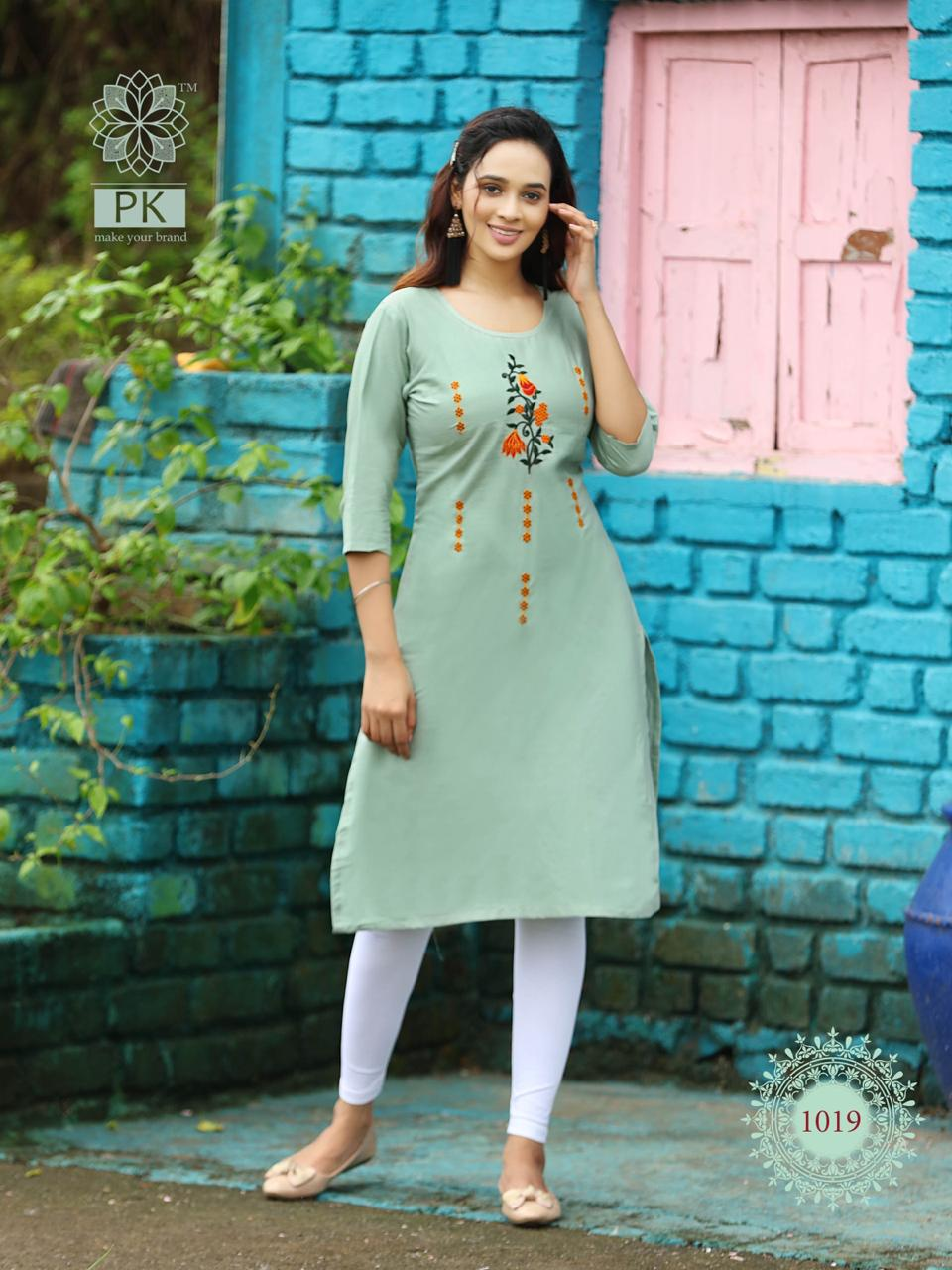 Pk Fashion Rainbow Vol 2 Kurti Wholesale Catalog 20 Pcs 19 - Pk Fashion Rainbow Vol 2 Kurti Wholesale Catalog 20 Pcs