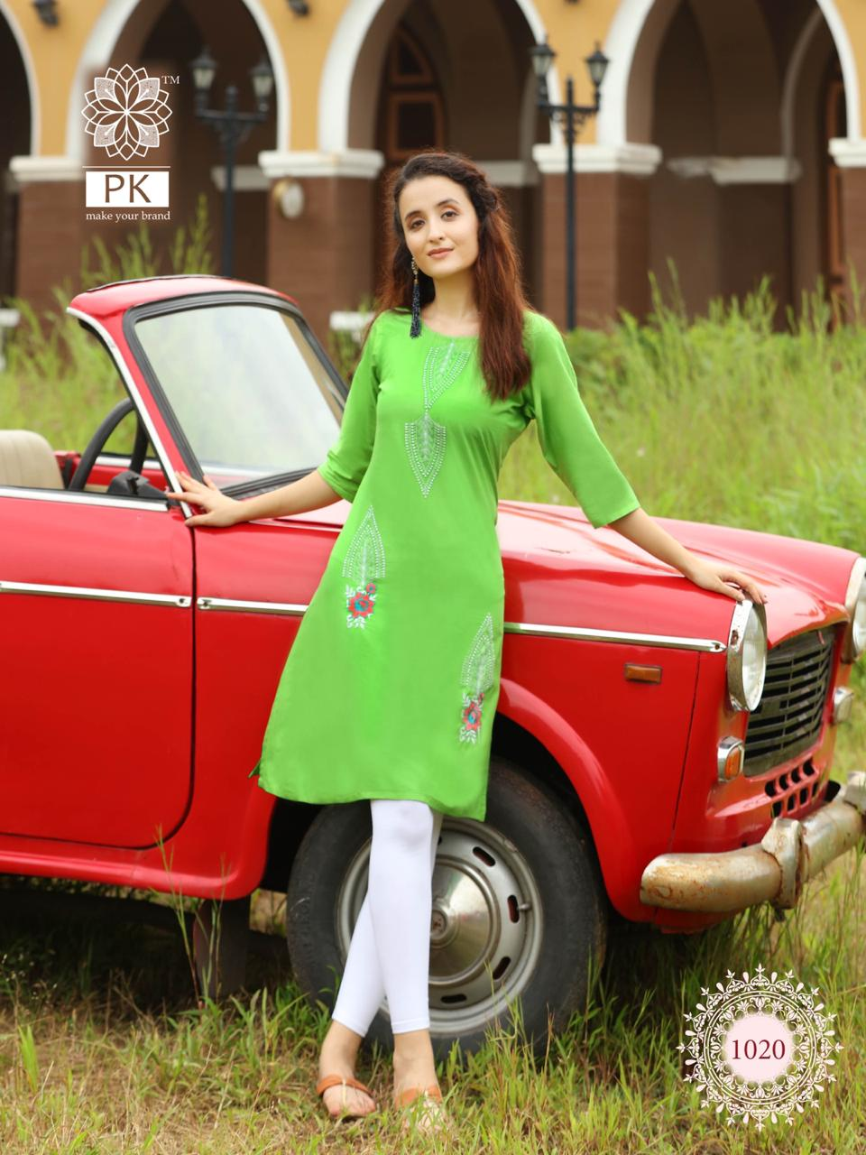 Pk Fashion Rainbow Vol 2 Kurti Wholesale Catalog 20 Pcs 20 - Pk Fashion Rainbow Vol 2 Kurti Wholesale Catalog 20 Pcs
