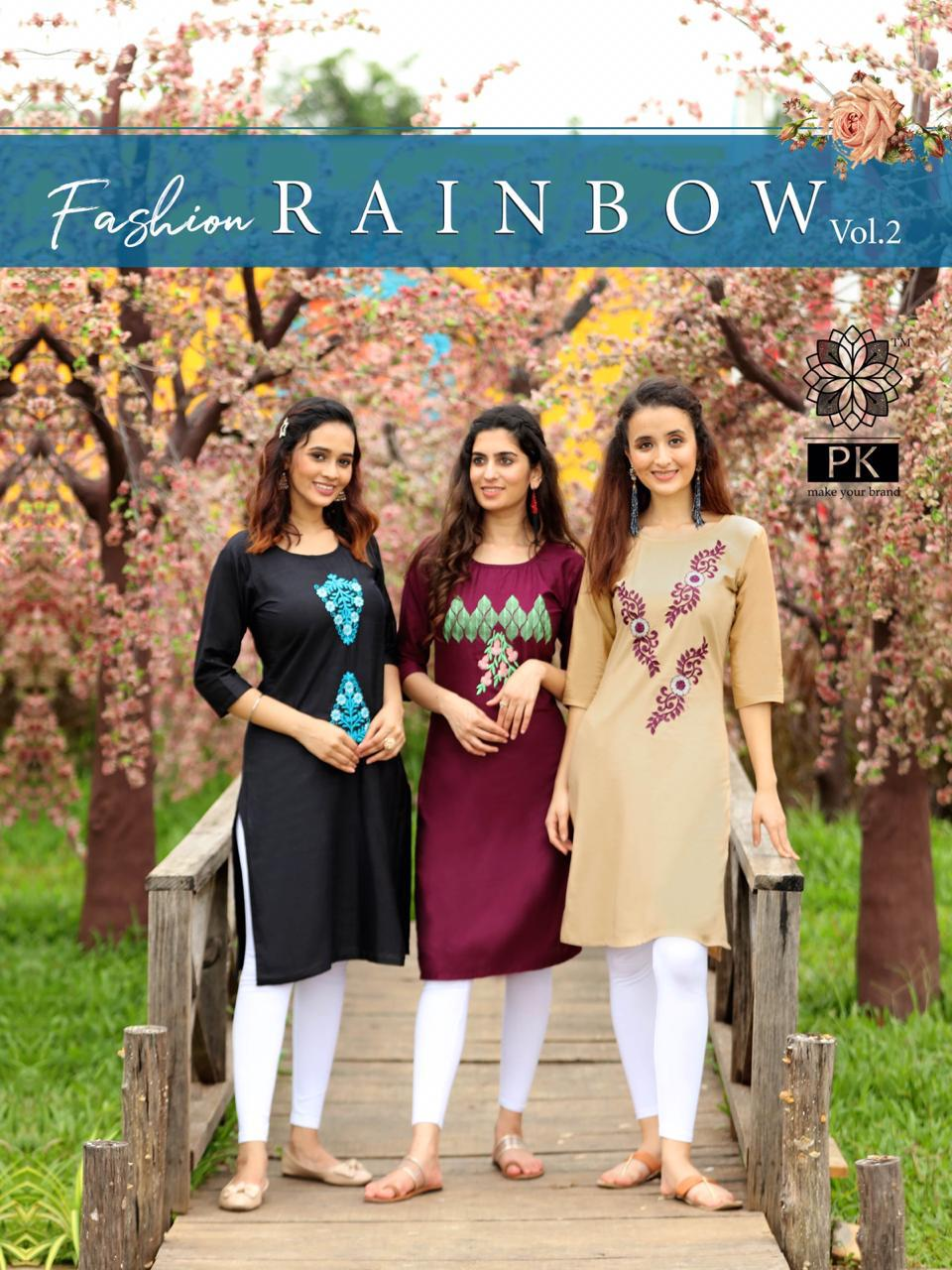 Pk Fashion Rainbow Vol 2 Kurti Wholesale Catalog 20 Pcs 21 - Pk Fashion Rainbow Vol 2 Kurti Wholesale Catalog 20 Pcs