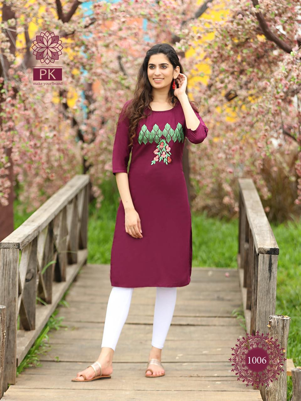 Pk Fashion Rainbow Vol 2 Kurti Wholesale Catalog 20 Pcs 5 - Pk Fashion Rainbow Vol 2 Kurti Wholesale Catalog 20 Pcs