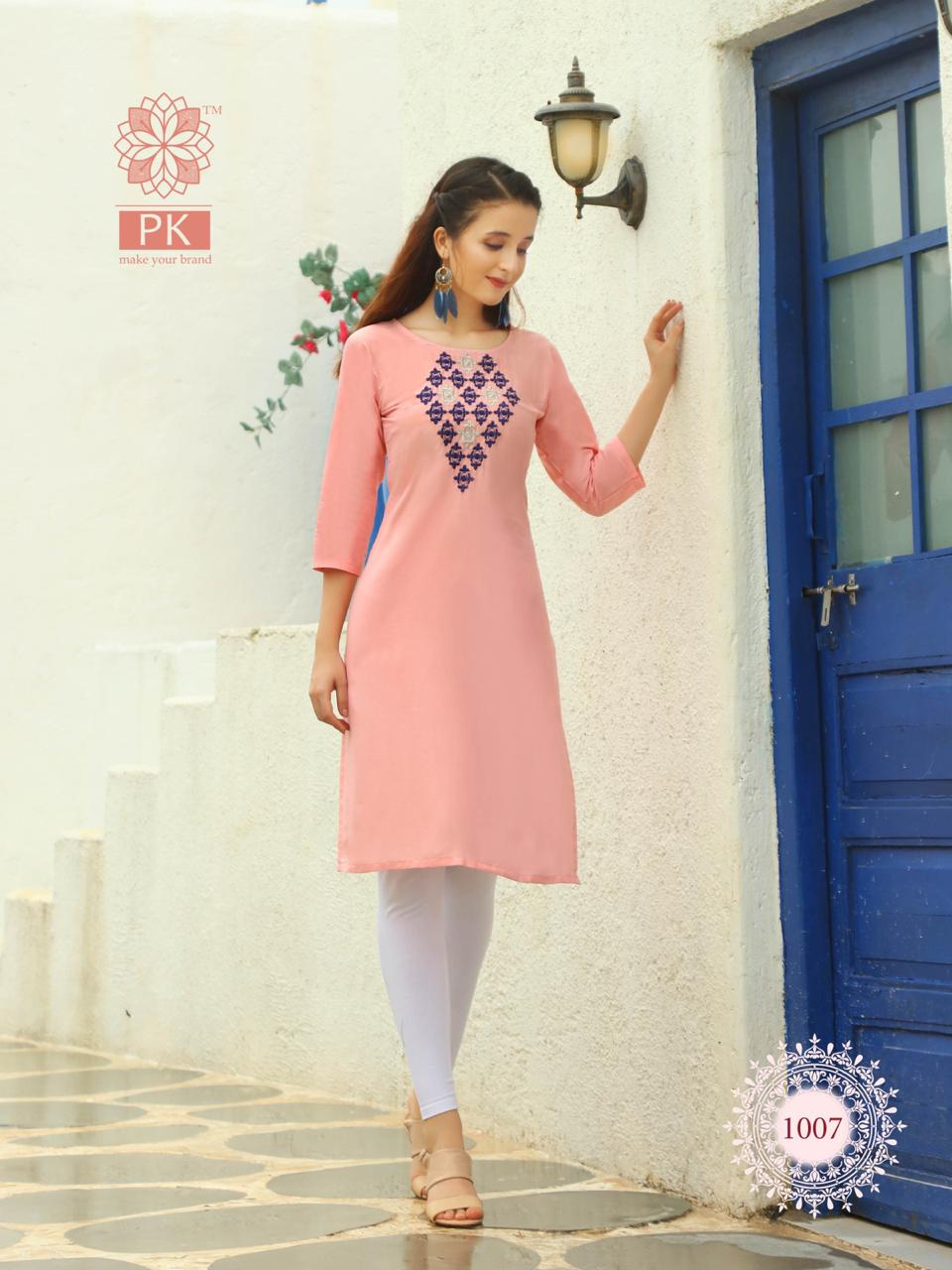 Pk Fashion Rainbow Vol 2 Kurti Wholesale Catalog 20 Pcs 7 - Pk Fashion Rainbow Vol 2 Kurti Wholesale Catalog 20 Pcs