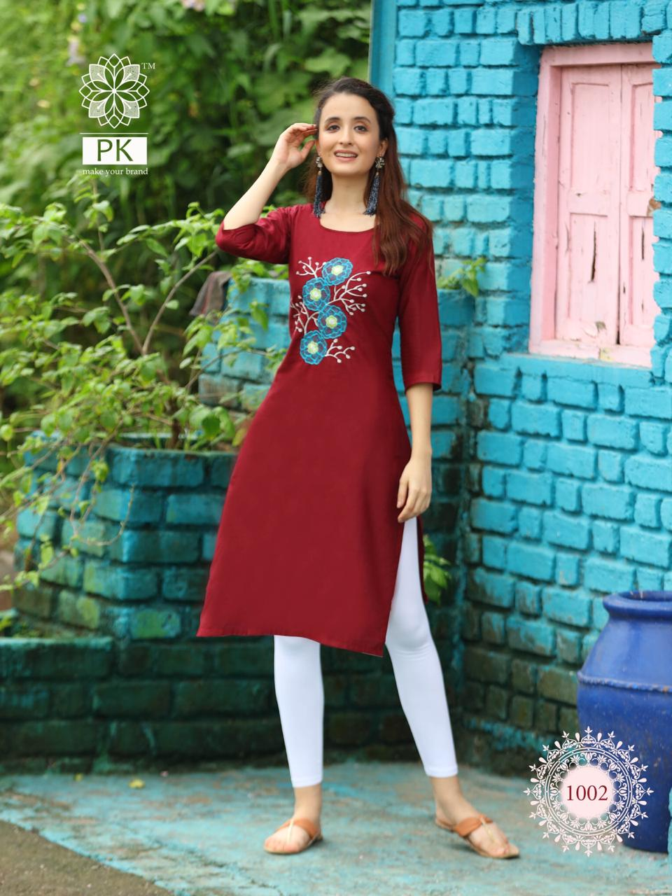 Pk Fashion Rainbow Vol 2 Kurti Wholesale Catalog 20 Pcs 8 - Pk Fashion Rainbow Vol 2 Kurti Wholesale Catalog 20 Pcs