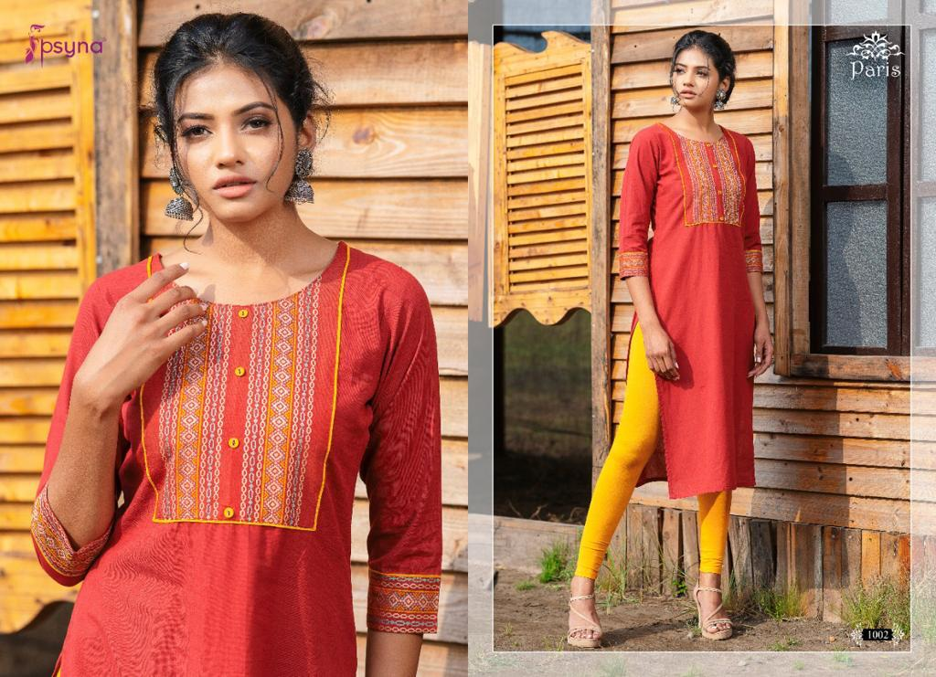 Psyna Paris Kurti Wholesale Catalog 8 Pcs 1 - Psyna Paris Kurti Wholesale Catalog 8 Pcs