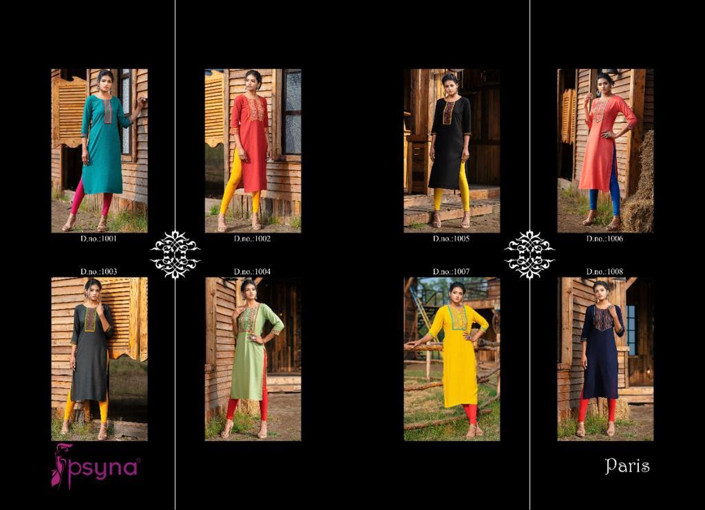 Psyna Paris Kurti Wholesale Catalog 8 Pcs 10 - Psyna Paris Kurti Wholesale Catalog 8 Pcs