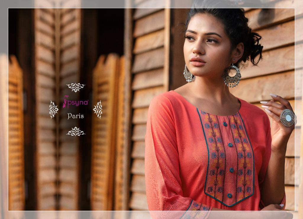 Psyna Paris Kurti Wholesale Catalog 8 Pcs 4 - Psyna Paris Kurti Wholesale Catalog 8 Pcs