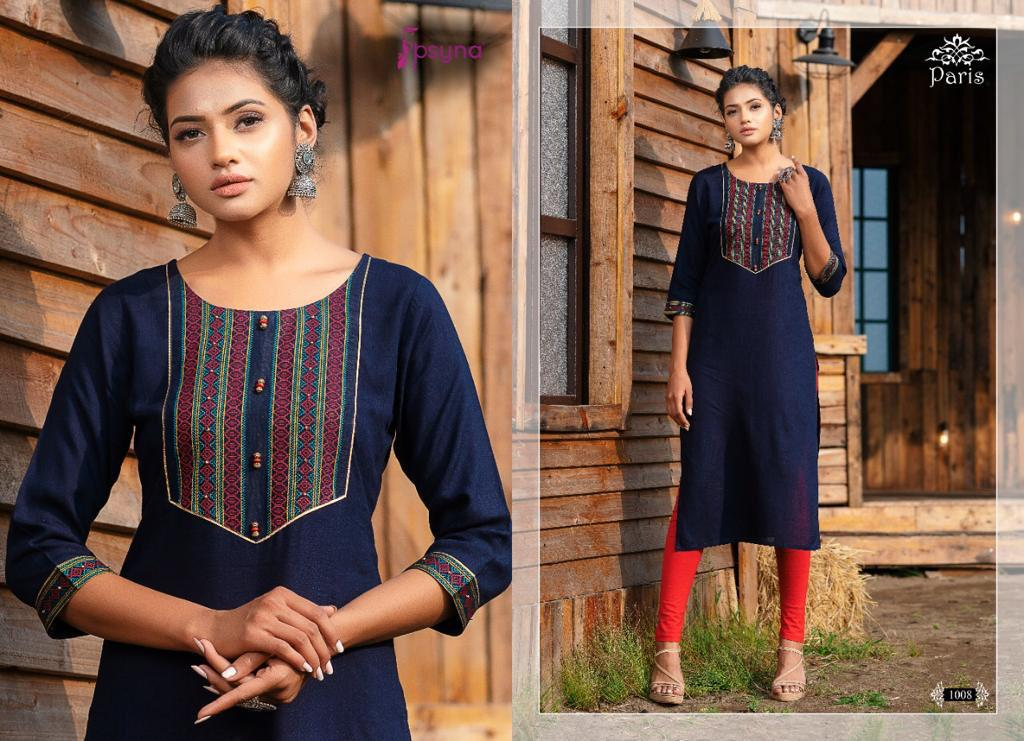 Psyna Paris Kurti Wholesale Catalog 8 Pcs 6 - Psyna Paris Kurti Wholesale Catalog 8 Pcs