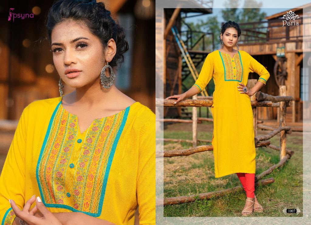 Psyna Paris Kurti Wholesale Catalog 8 Pcs 7 - Psyna Paris Kurti Wholesale Catalog 8 Pcs