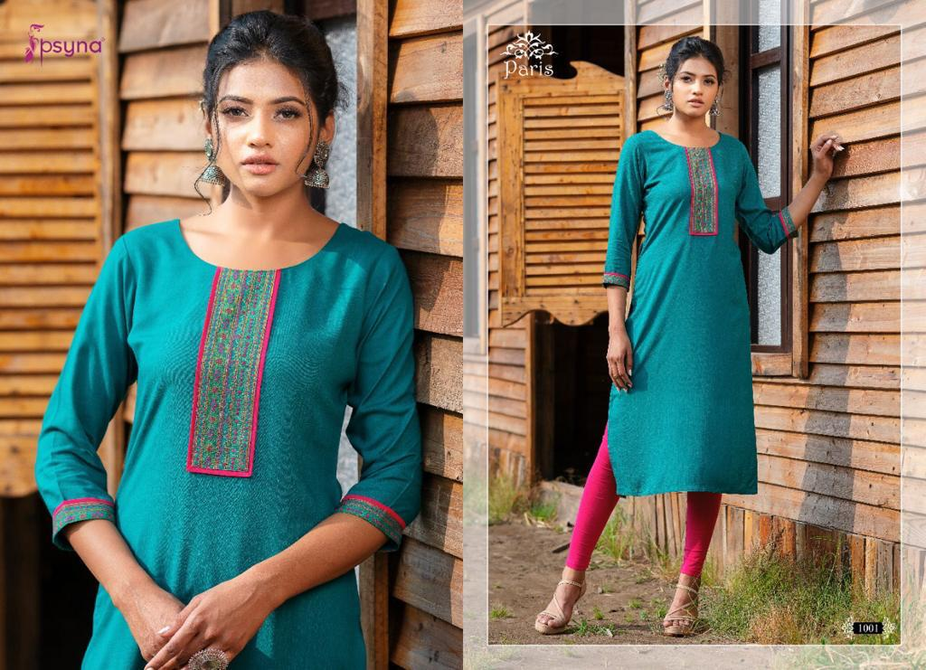 Psyna Paris Kurti Wholesale Catalog 8 Pcs 9 - Psyna Paris Kurti Wholesale Catalog 8 Pcs