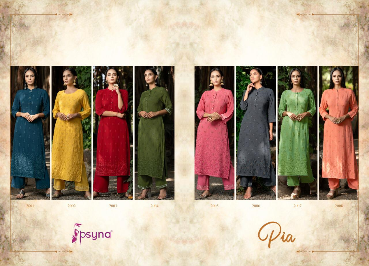 Psyna Pia Vol 2 Kurti with Pant Wholesale Catalog 8 Pcs 11 - Psyna Pia Vol 2 Kurti with Pant Wholesale Catalog 8 Pcs