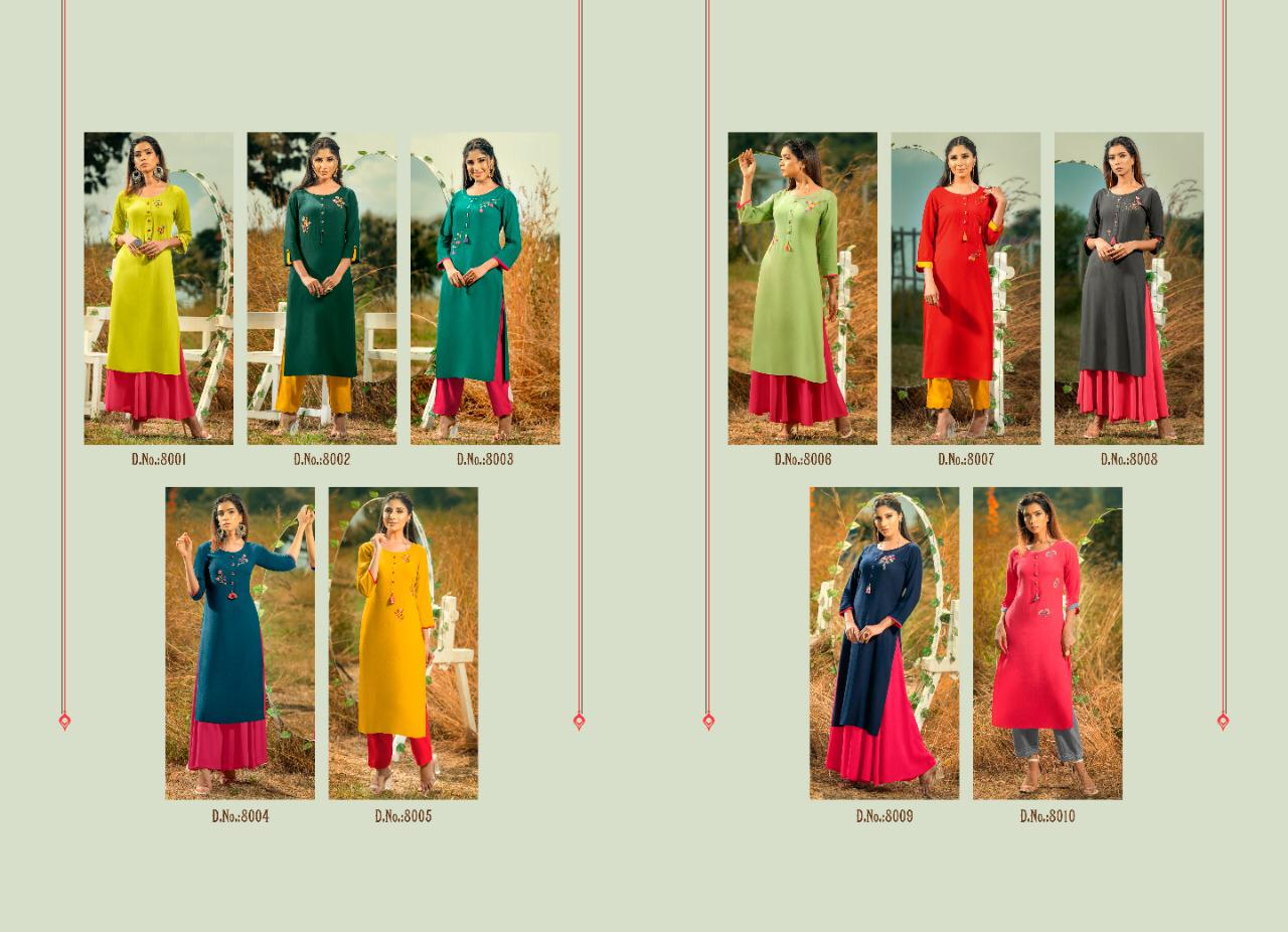 Psyna Poshak Vol 8 Kurti Wholesale Catalog 10 Pcs 12 - Psyna Poshak Vol 8 Kurti Wholesale Catalog 10 Pcs