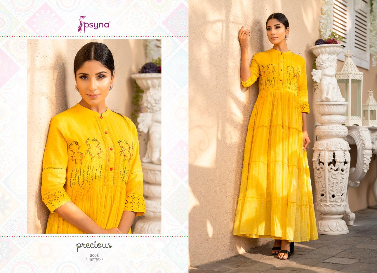 Psyna Precious Vol 2 Kurti Wholesale Catalog 8 Pcs 10 - Psyna Precious Vol 2 Kurti Wholesale Catalog 8 Pcs