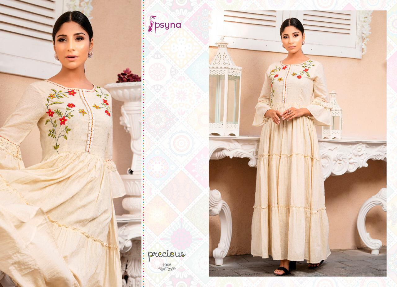 Psyna Precious Vol 2 Kurti Wholesale Catalog 8 Pcs 8 - Psyna Precious Vol 2 Kurti Wholesale Catalog 8 Pcs