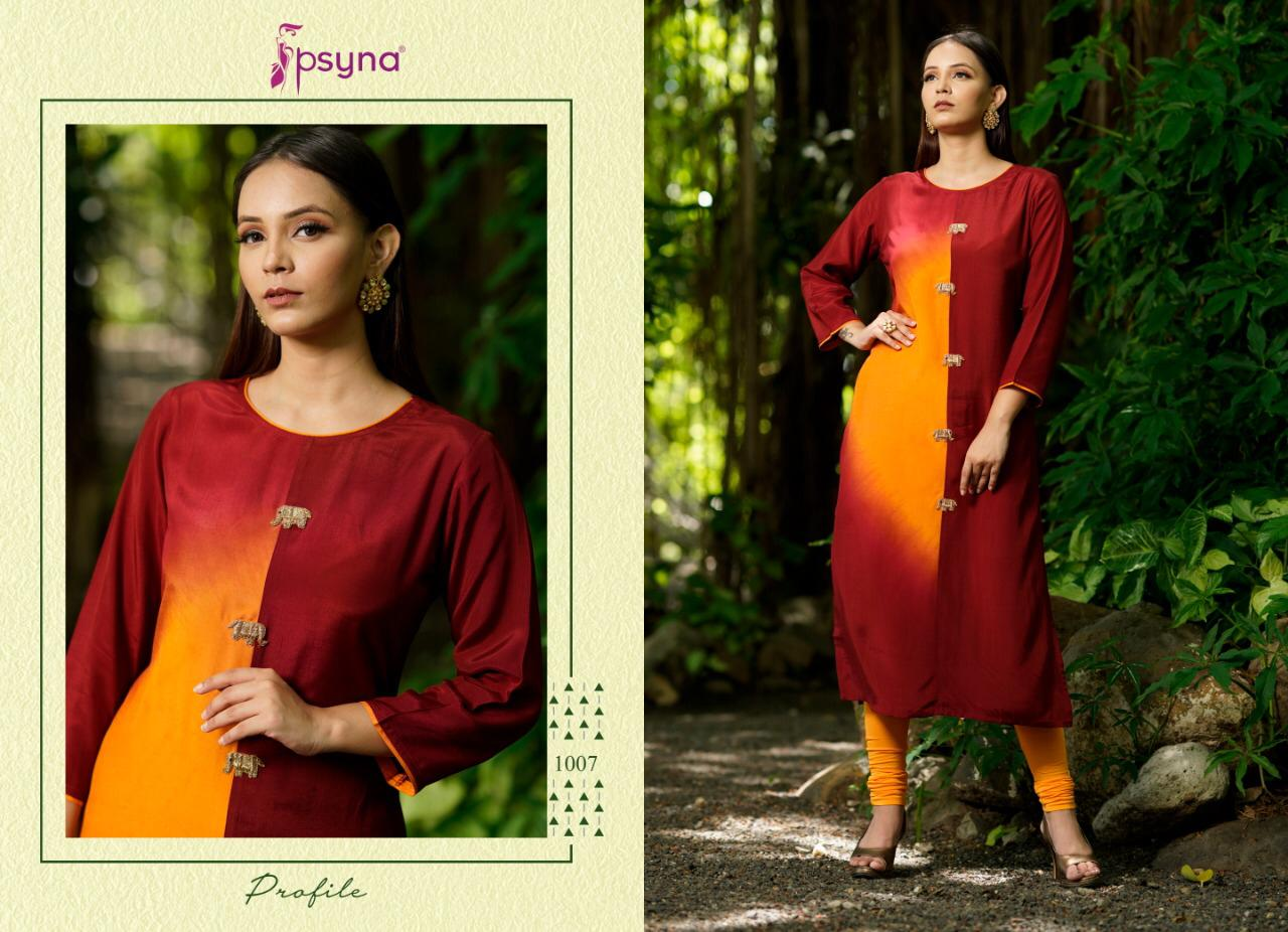 Psyna Profile Kurti Wholesale Catalog 7 Pcs 8 - Psyna Profile Kurti Wholesale Catalog 7 Pcs
