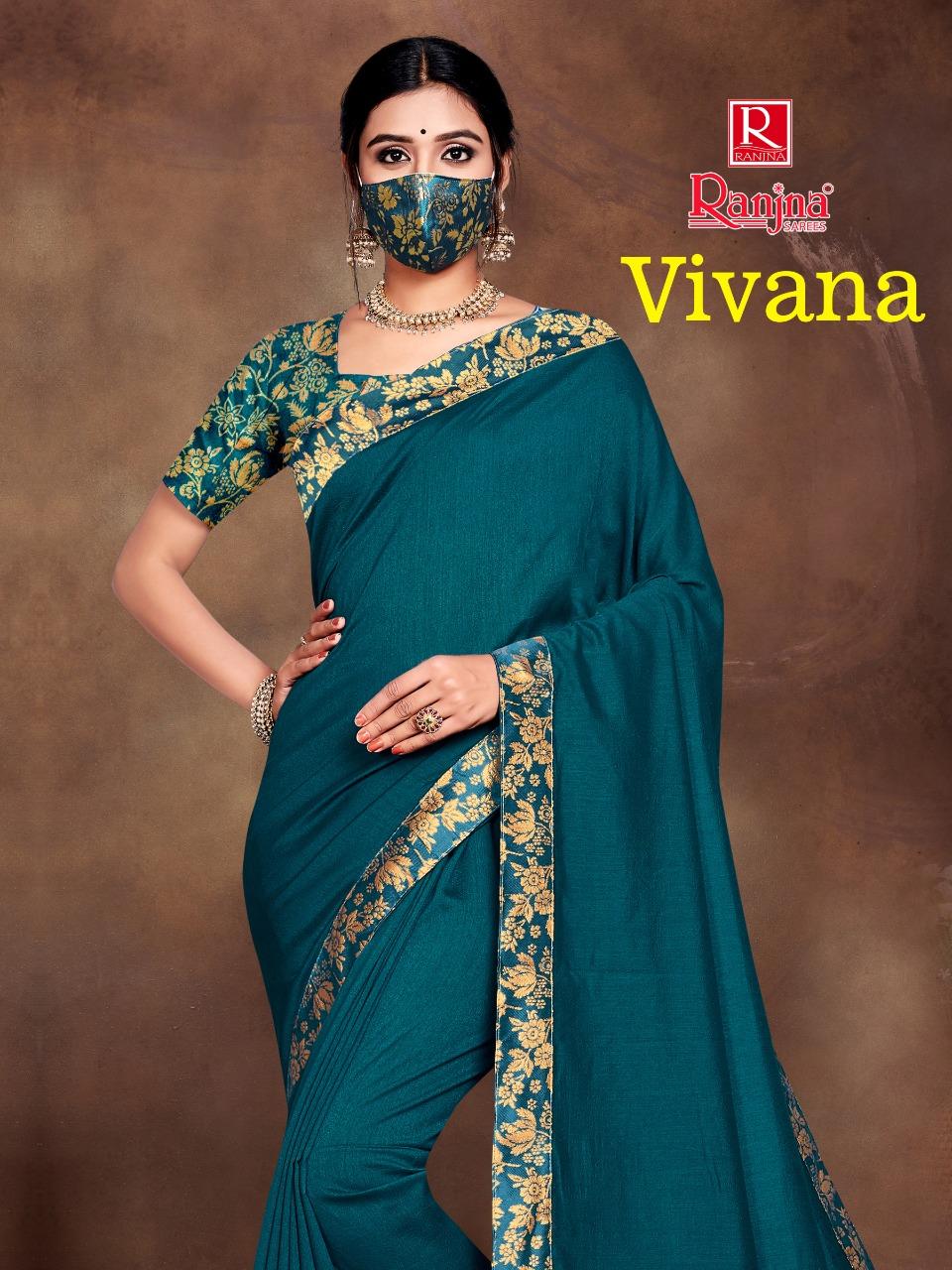 Ranjna Vivana Saree Sari Wholesale Catalog 6 Pcs 1 - Ranjna Vivana Saree Sari Wholesale Catalog 6 Pcs
