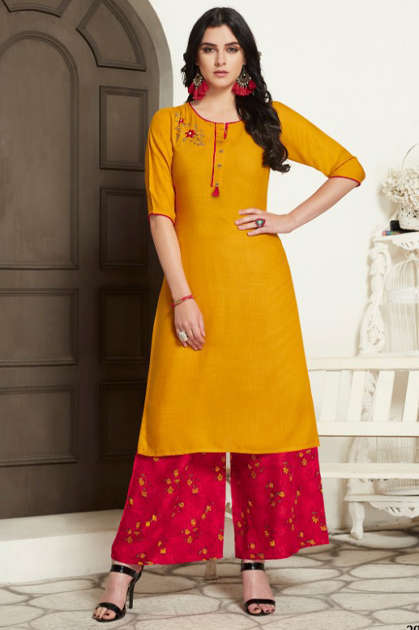 Rayan Jannat Vol 1 by R Studio Kurti with Palazzo Wholesale Catalog 8 Pcs