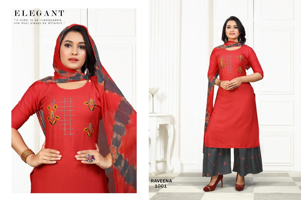 SS Raveena Kurti with Dupatta Sharara Wholesale Catalog 6 Pcs 1 - SS Raveena Kurti with Dupatta Sharara Wholesale Catalog 6 Pcs