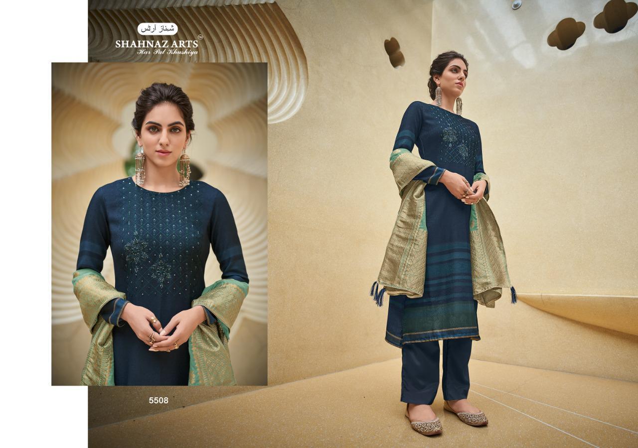 Shahnaz Arts Azira Pashmina Salwar Suit Wholesale Catalog 8 Pcs 10 - Shahnaz Arts Azira Pashmina Salwar Suit Wholesale Catalog 8 Pcs