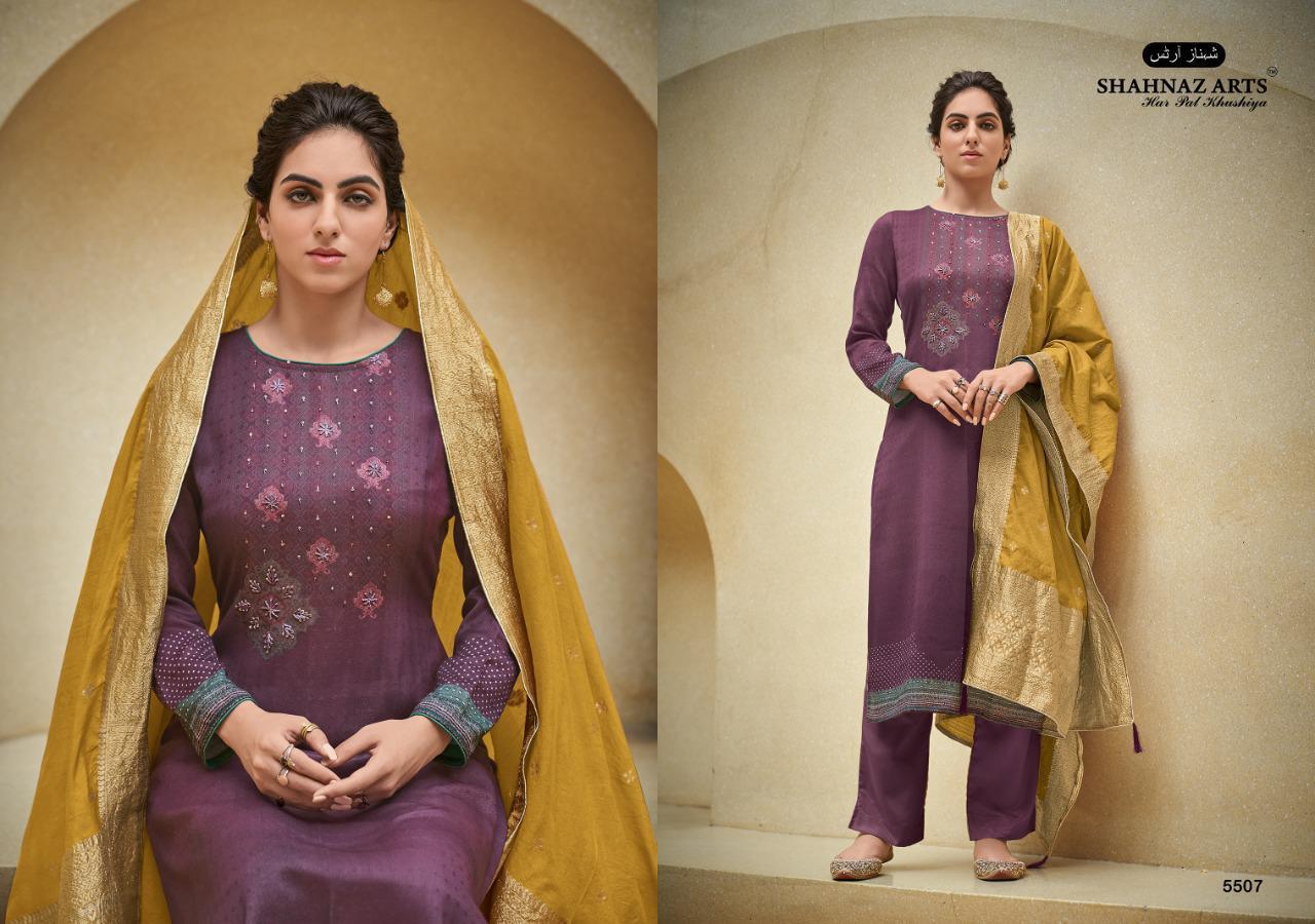Shahnaz Arts Azira Pashmina Salwar Suit Wholesale Catalog 8 Pcs 12 - Shahnaz Arts Azira Pashmina Salwar Suit Wholesale Catalog 8 Pcs
