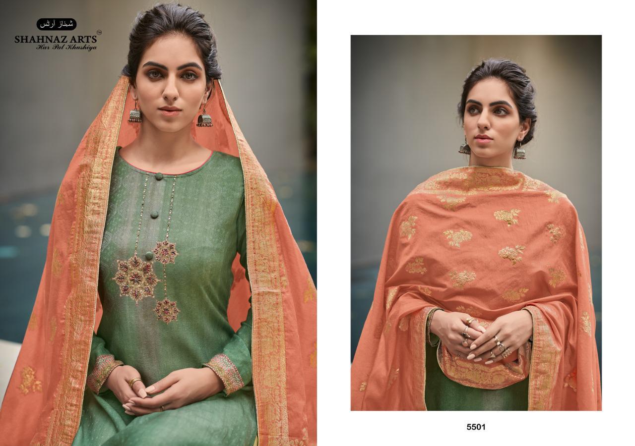 Shahnaz Arts Azira Pashmina Salwar Suit Wholesale Catalog 8 Pcs 2 - Shahnaz Arts Azira Pashmina Salwar Suit Wholesale Catalog 8 Pcs
