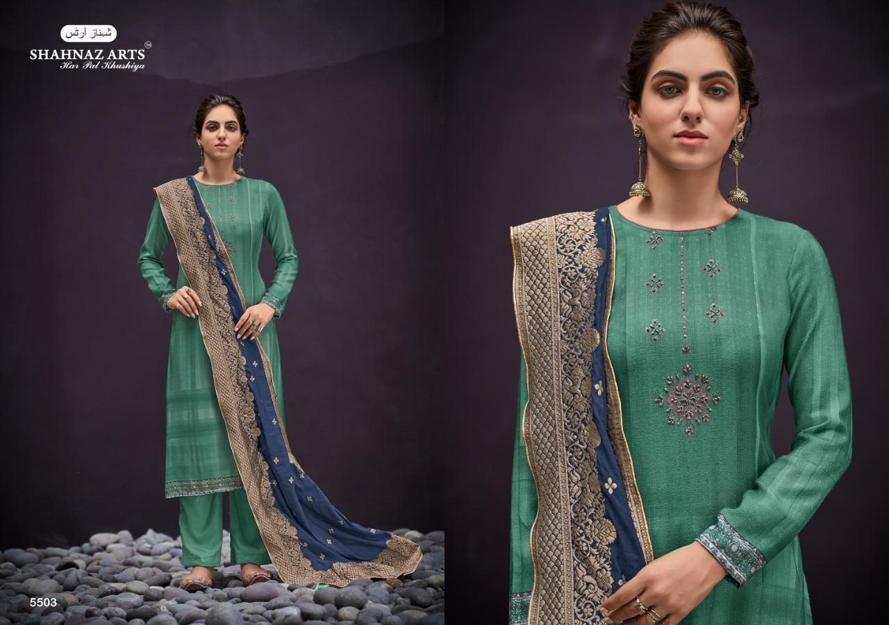 Shahnaz Arts Azira Pashmina Salwar Suit Wholesale Catalog 8 Pcs 4 - Shahnaz Arts Azira Pashmina Salwar Suit Wholesale Catalog 8 Pcs